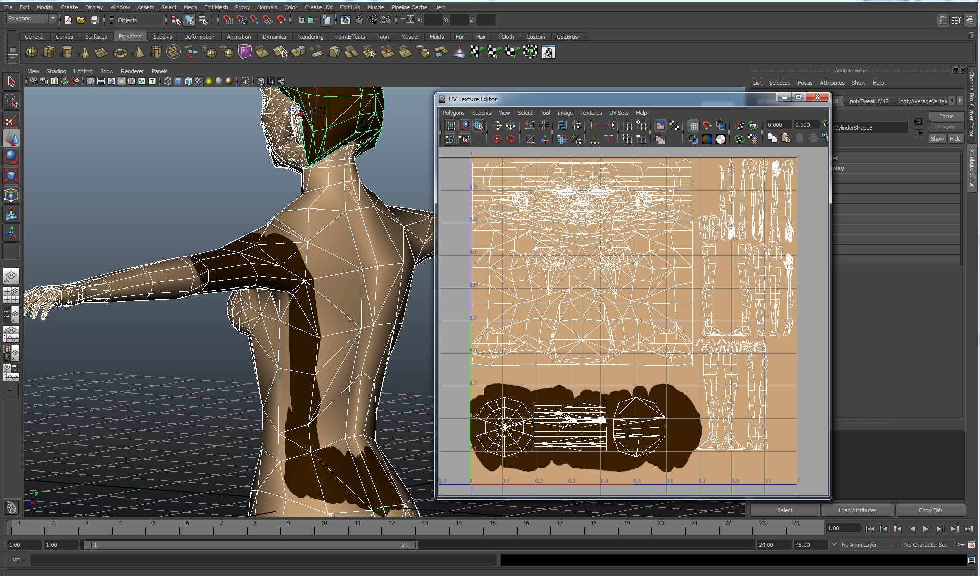 Cgtalk Texture On Model Does Not Match Uv Map
